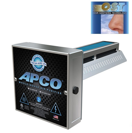 TUV-APCO-ER2  - Fresh-Aire UV,APCO-ER2 , In-Duct Air Purifier w/ PCO Plus with 2 Year lamp -24 Volts
