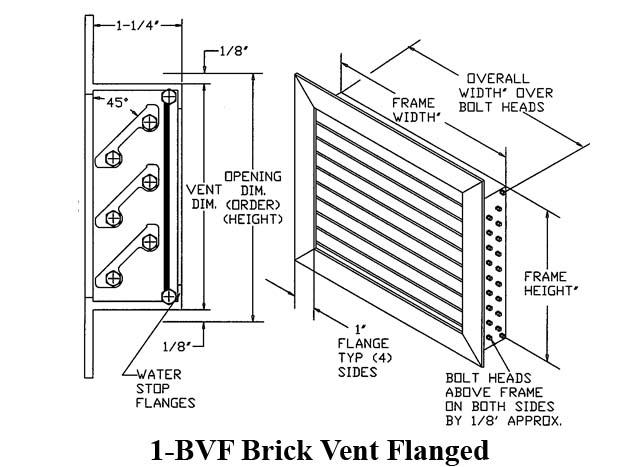 "WebReps B2B Wholesale HVAC-R | Louver 1-BVF, 13"" x 24 ..."