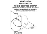 "AC-40 - 10"" Single Blade Control Damper (Model #AC4010)"