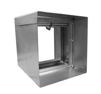 10x10 -  75AH Fire Damper with Sleeve    -  (Model # 10x10sle-ang)