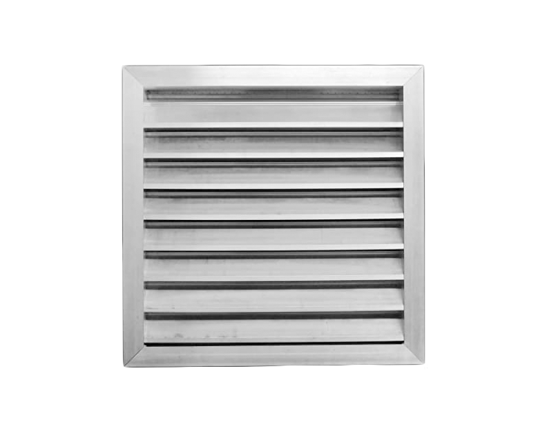 "10""x10"" - 2"" Extruded Aluminum Louver w/ Bird Screen - Storm Proof Louver (Model# 2SRCF10x10)"