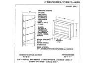 "12X14 - 6""  Extruded Aluminum Drainable Louver w/ Channel Frame & Insect Screen (Model# 6DL-IS 12X14)"