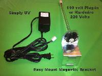 "Simply UV 16,  G406-1224, Cases 8 - Line Voltage  16"" UV lamp system,20W, 110v Plug,, with Magnetic Bracket, Ballast - Case of 8."