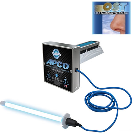 TUV-APCO-DI-P  - Fresh-Aire UV,APCO-DI, In-Duct Air Purifier w/ PCO Plus with 2nd remote Lamp -110/277 vac - easy Install 110V plug